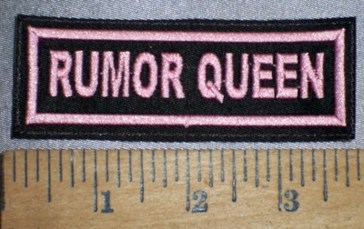 4262 L - Rumor Queen - Pink - Embroidery Patch