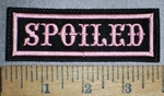 4266 L - Spoiled - Pink - Embroidery Patch