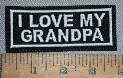 4267 L - I Love My Grandpa - Embroidery Patch