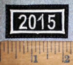 4278 L - Mini Year Patch 2015 - Embroidery Patch