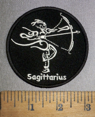 4280 CP - Zodiac Sign - Sagittarius - Round - Embroidery Patch