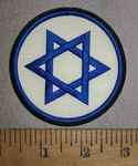 4282 CP - Star Of David - Round - Embroidery Patch