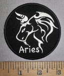 4283 CP - Zodiac Sign - Aries - Round - Embroidery Patch
