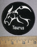 4287 CP - Zodiac Sign - Taurus - Round - Embroidery Patch