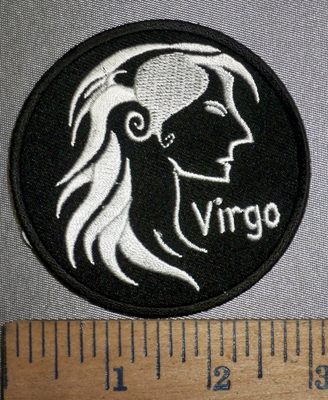 4288 CP - Zodiac Sign - Virgo - Round - Embroidery Patch
