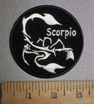 4289 CP - Zodiac Sign - Scorpio - Round - Embroidery Patch