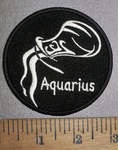 4291 CP - Zodiac Sign -  Aquarius - Round - Embroidery Patch