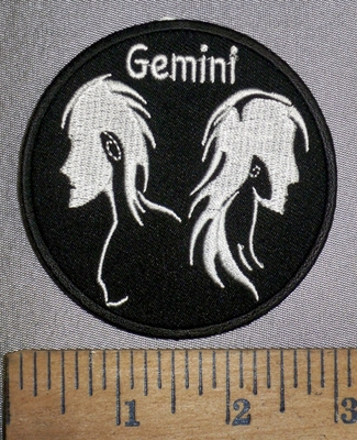 4292 CP - Zodiac Sign - Gemini - Round - Embroidery Patch