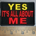 4293 CP - YES - It's All About ME - Embroidery Patch