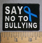 4297 CP - Say NO To Bullying - With Blue Ribbon -  Embroidery Patch