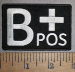 4298 CP - Blood Type - B+ POS - Embroidery Patch