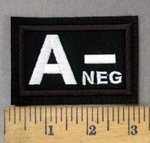 4300 L - Blood Type - A- NEG - Embroidery Patch