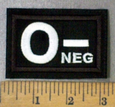 4301 L - Blood Type O-NEG - Embroidery Patch