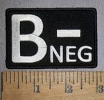 4304 CP - Blood Type B-NEG - Embroidery Patch