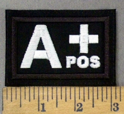 4305 L - Blood Type - A+ POS - Embroidery Patch