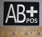 4306 CP - Blood Type - AB+ POS - Embroidery Patch