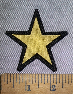 4344 L - Gold Star - Embroidery Patch