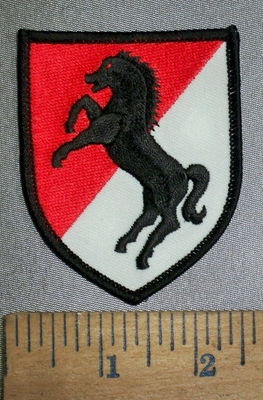 4348 N - Black Horse Army Shield - Embroidery Patch