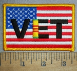 4354 CP - American Flag With VET - Vietnam - Embroidery Patch