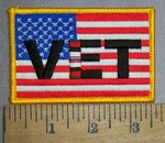 4355 CP -American Flag With VET - Afghanistan - Embroidery Patch