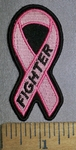4359 CP - Small Pink Ribbon - Breast Cancer Fighter Ribbon - Embroidery Patch