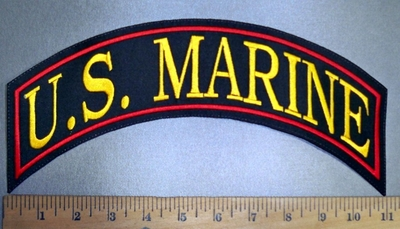 4363 L - U.S. Marine - Top Rocker - Embroidery Patch