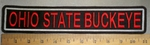 4364 L Ohio State Buckeye - Straight Rocker - Embroidery Patch
