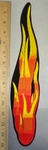 4370 S -  XL - Flame of  Fire - Vertical - Embroidery Patch