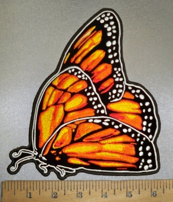 4375 G - Monarch Butterfly - Back Patch - Embroidery Patch