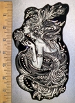 4378 G - DISCONTINUED  Rhinestone Bling - Fairy Lady With Roses - Back Patch - Embroidery patch