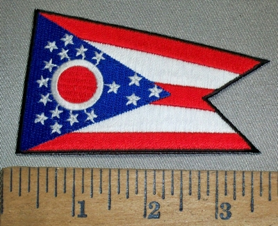 4390 S - State Of Ohio Flag - Embroidery Patch