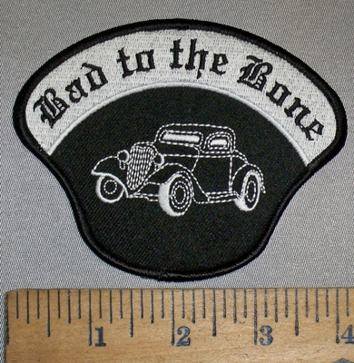 4395 S - Bad To The Bone - Classic Old Car - Embroidery Patch