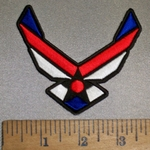 4396 CP - Red - White And Blue Air Force Logo - Embroidery Patch