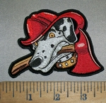 4411 CP - Fire Department Dalmation Dog With Firemans Hat And Axe - Embroidery Patch