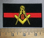 4435 CP - Mason Firefighter - Red Line - Embroidery Patch