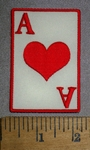 4436 S - Ace Of Hearts - Embroidery Patch