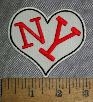 4437 CP - NY Heart - Embroidery Patch