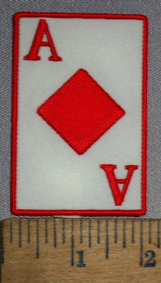 4441 S - Ace Of Diamonds - Embroidery Patch