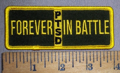 4442 G - discontinued PTSD - Forever In Battle - Embroidery Patch