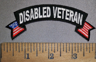 4444 CP - Disable Veteran - Mini Rocker - Embroidery Patch