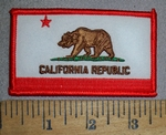 4445 S - California Republic State Flag - Embroidery Patch
