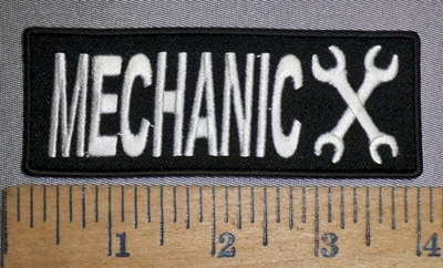 4458 CP - Mechanic - With 2 Wrenches - Embroidery Patch