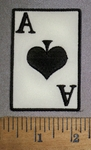 4468 S - Ace Of Spades  - Embroidery Patch