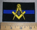 4476 CP - Mason Police Officer - Blue Line - Embroidery Patch