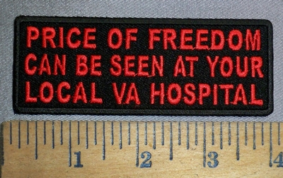 4480 CP - Price Of Freedom - Can Be Seen At Your Local VA Hospital - Red - Embroidery Patch