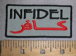 4481 CP - Infidel - English - Arabic - Embroidery Patch
