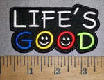 4485 CP - Life's GOOD - Embroidery Patch