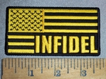 4491 CP - Infidel- Yellow And Black American Flag - Embroidery Patch