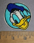 4492 S - Donald Ducks Face - Round - Embroidery Patch