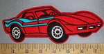 4494 C - Red Corvette - Embroidery Patch